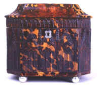 Pressed tortoiseshell in neo-Gothic design from the mid-19th century. cs21a.jpg (61341 bytes)