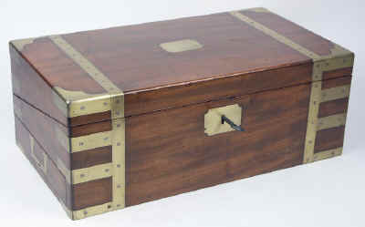 A Campaign Box with elaborate secret drawers and compartments Circa 1800 wbagsec03.jpg (51221 bytes)