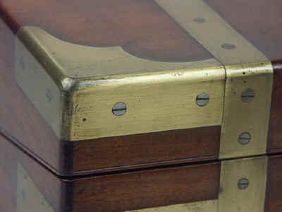 A Campaign Box with elaborate secret drawers and compartments Circa 1800 wbagsec04.jpg (59269 bytes)