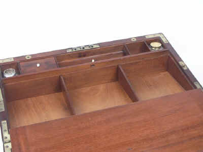 A Campaign Box with elaborate secret drawers and compartments Circa 1800 wbagsec08.jpg (56522 bytes)