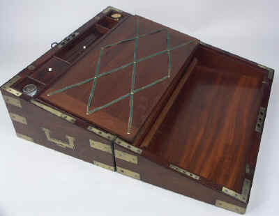 A Campaign Box with elaborate secret drawers and compartments Circa 1800 wbagsec14.jpg (59137 bytes)