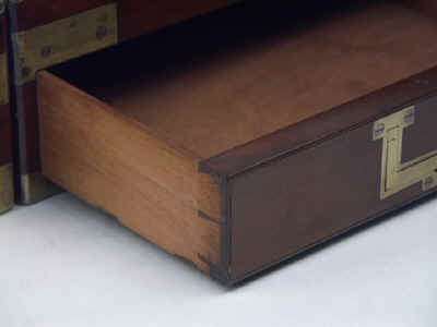 A Campaign Box with elaborate secret drawers and compartments Circa 1800 wbagsec17.jpg (44337 bytes)