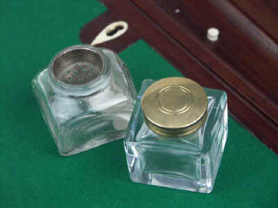 A Campaign Box with elaborate secret drawers and compartments Circa 1800 wbagsec19.jpg (71360 bytes)