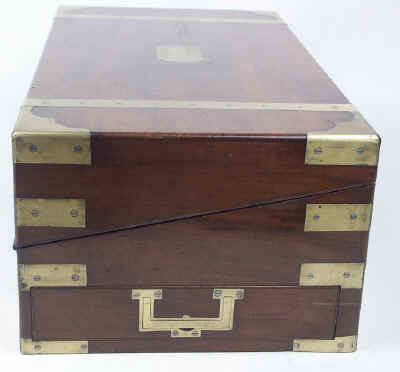 A Campaign Box with elaborate secret drawers and compartments Circa 1800 wbagsec20.jpg (64133 bytes)