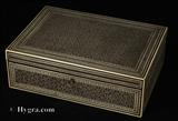 885JBAI: Antique rare first period Anglo Indian box veneered all over with <I>Sadeli</I>mosaic Circa 1800 width=