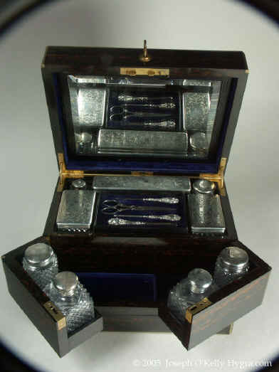 JB125: A  very high quality  Coromandel Dressing box from the second half of 19th century.  Enlarge Picture