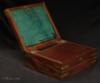 A mahogany triple opening brass bound box of quality workmanship in original condition.   Circa 1800.